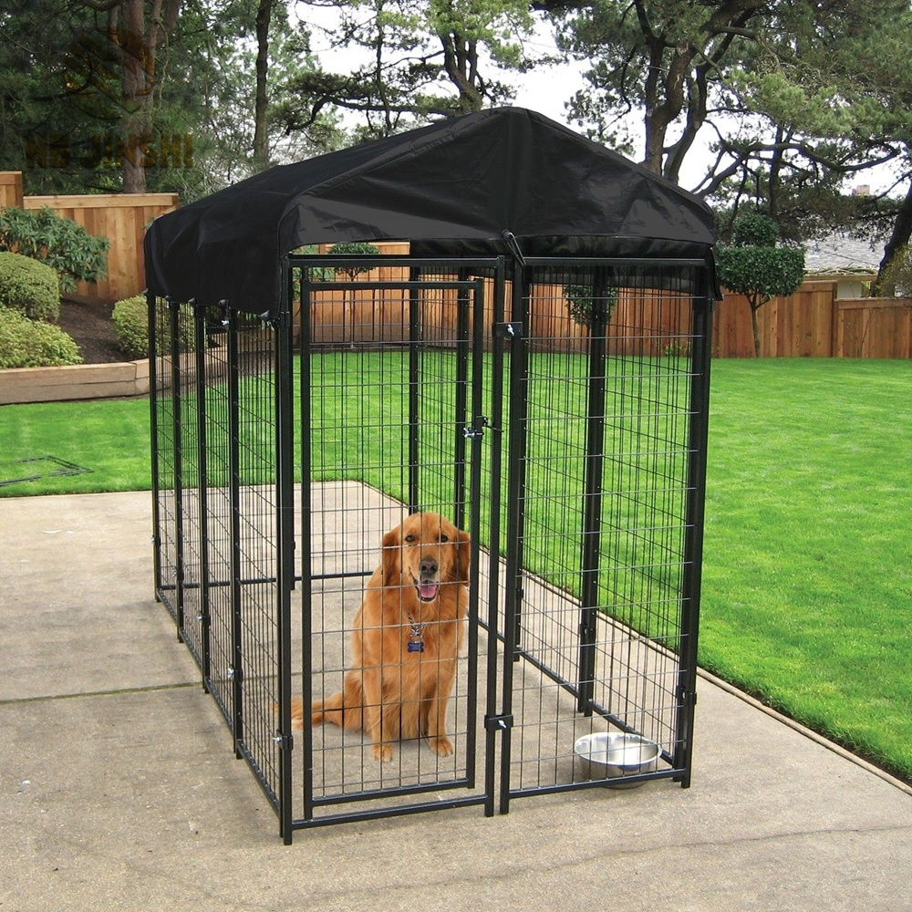 Weatherguard Covered Uptown Welded Wire Dog Kennel