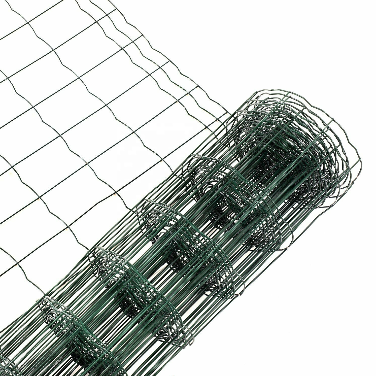 1.5high PVC coated green euro fence holland fence