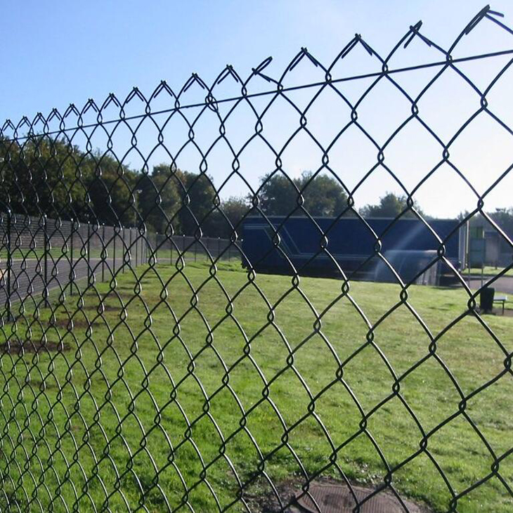 PVC Coated Chain Link Mesh sport field fence diamond wire mesh fence