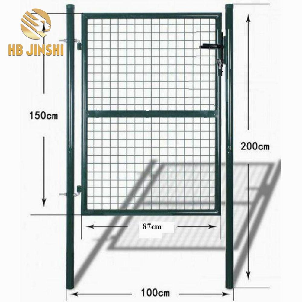 Factory Supplier Hot Sale 150 x 100 cm Germany France Round Tube Wire Mesh Fence Decorative Garden Gate