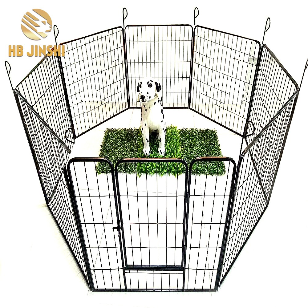 8 pcs panel Heavy Duty Pet Exercise Cage Dog Cat Barrier Fence Metal Play Pen Kennel