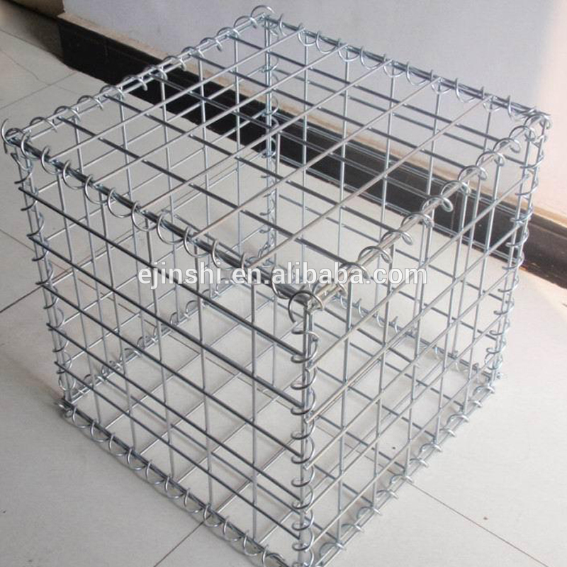 CE Mark 30x30x30cm Foldable Metal Wire Store Gabion basket for courtyard