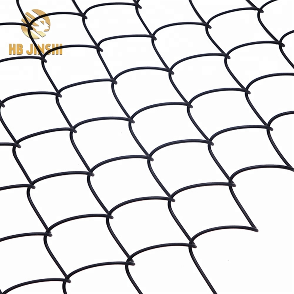8ft Black PVC Coated Diamond Wire Mesh Netting School Chain Link Fencing