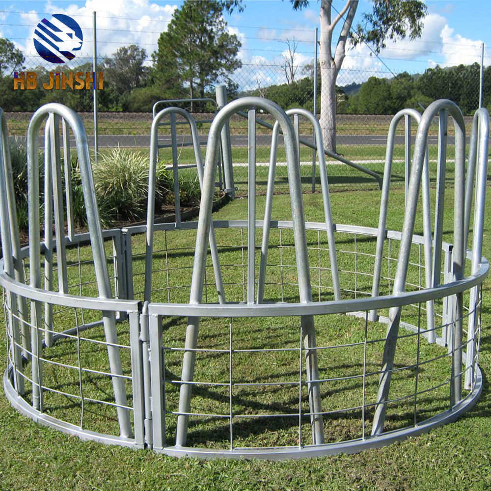 Farm using Round Bale Hay Feeders made in China
