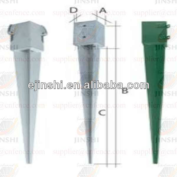 Pole Anchors and Post Support for garden fence post support