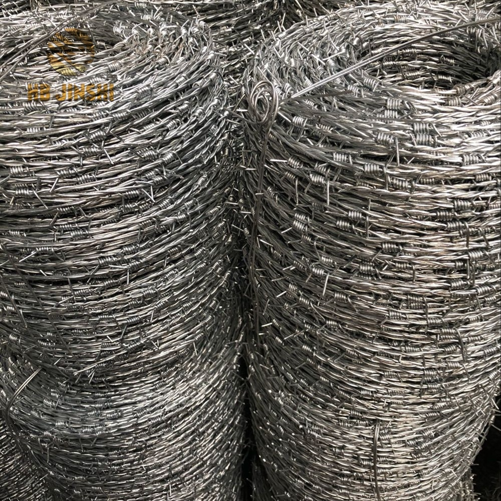 15.5g high tensile galvanized steel Barbed Wire
