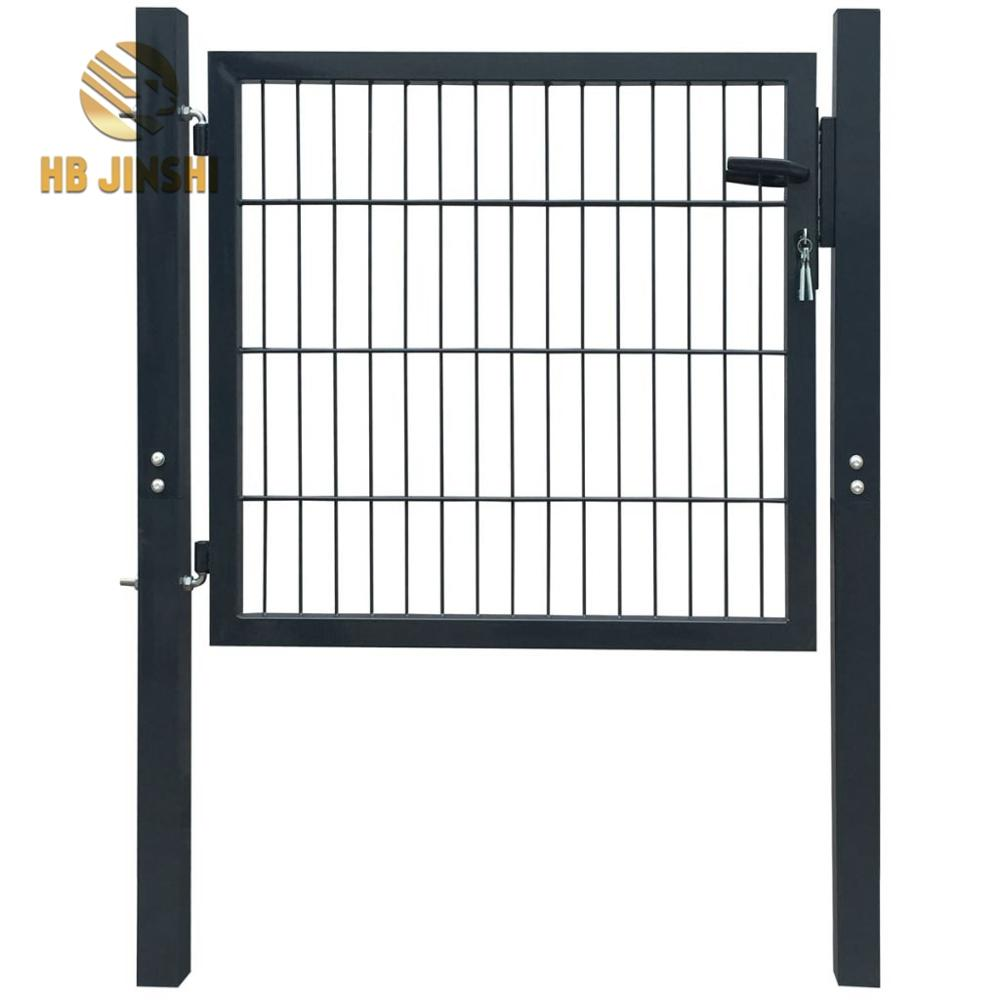 2D Metal Garden Fence Gate Yard Wire Mesh Single Door
