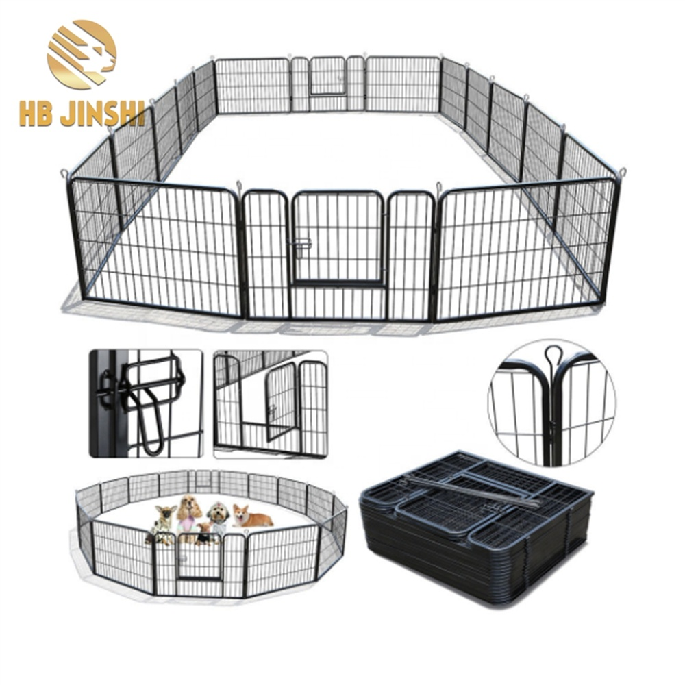 Manufacturer large welded wire mesh metal dog cages dog kennels