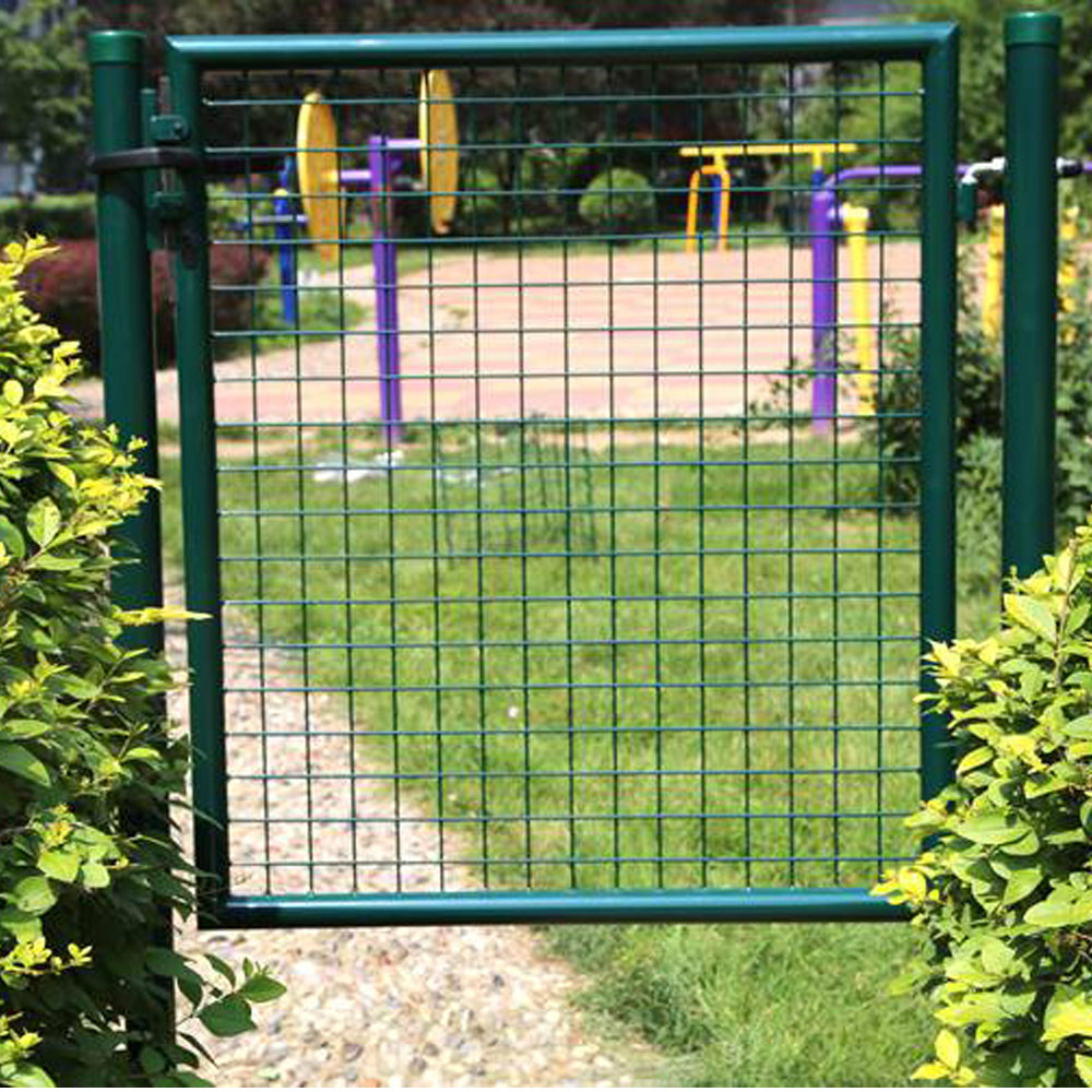 100x150cm Cheap Green Euro Decorative Round Tube  Farm Metal Garden Gate