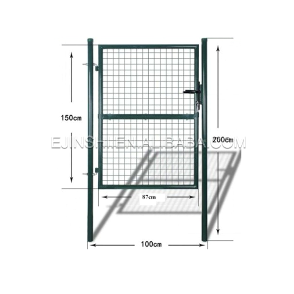Green Powder Coated Garden Gate for Euro Market