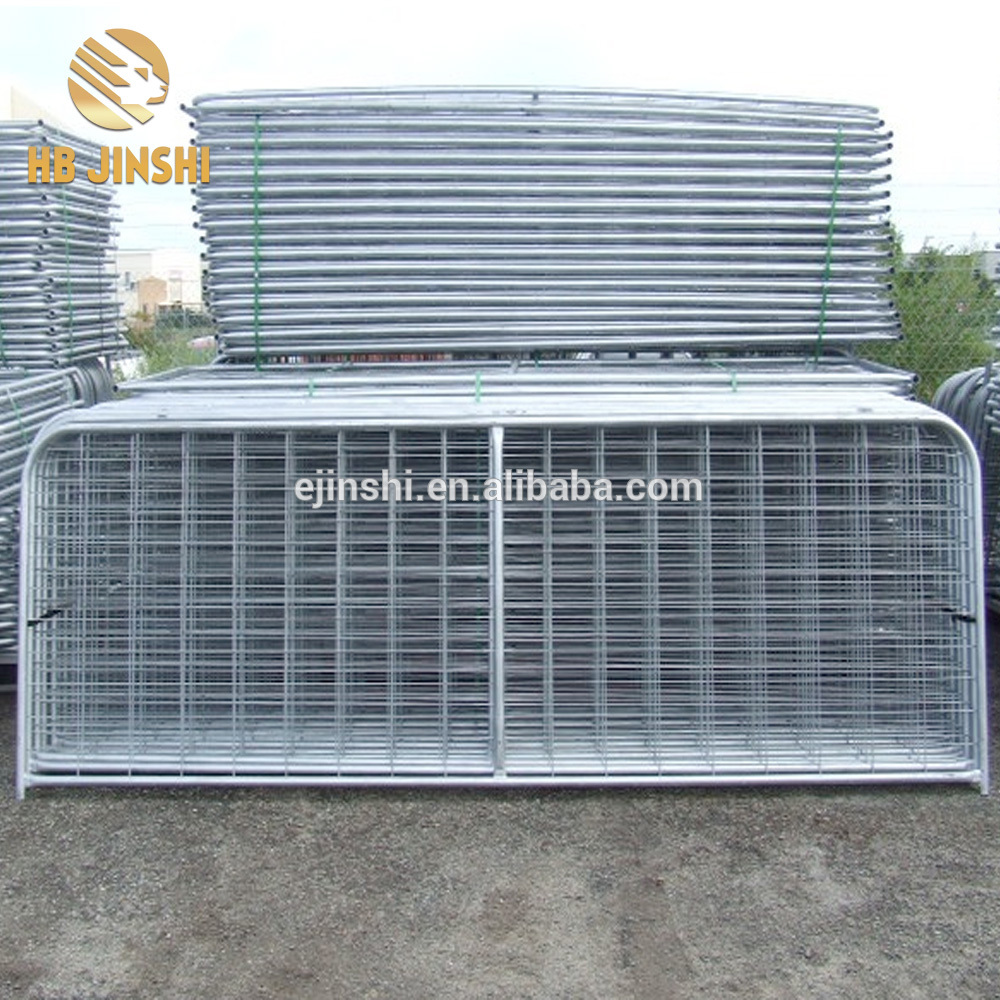 Galvanized wire farm gate welded livestock portable farm gate