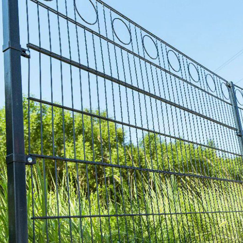 Green 868 656 Double Wire Welded Mesh Fence Panels