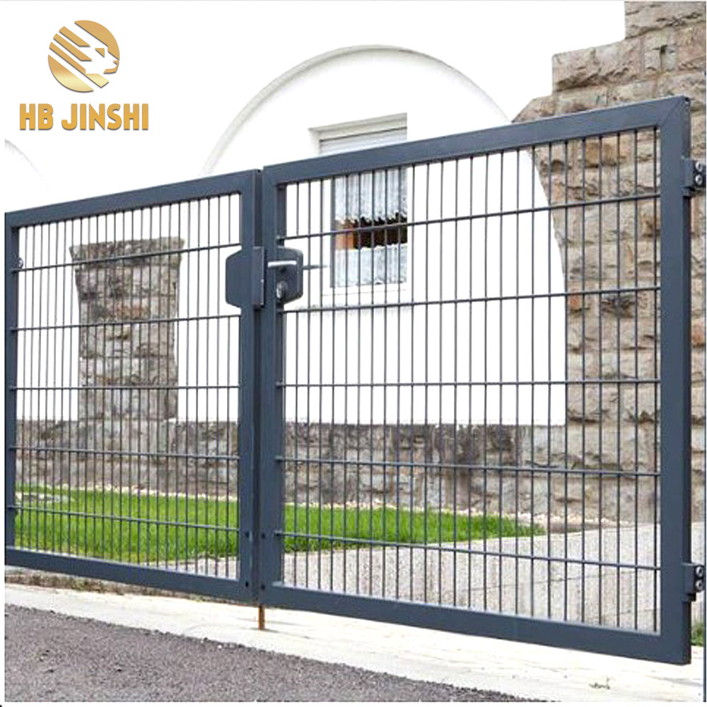 400cm*180cm Euro Powder Coated Garden Gate, Double wings gate