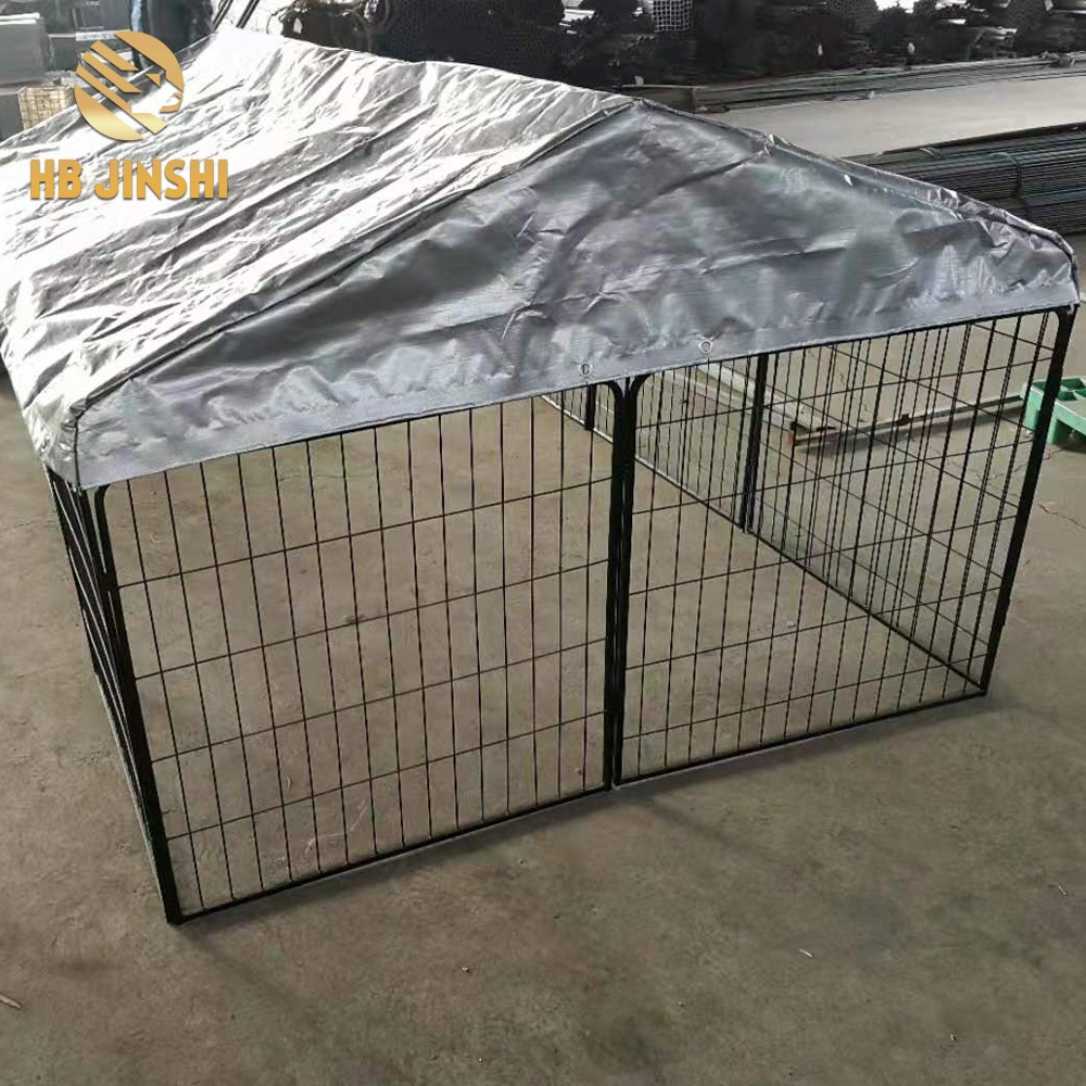 Pet dog playpen exercise cage with cover puppy crate Fence portable Foldable outdoor