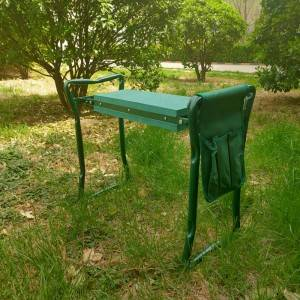 Metal folding garden tools chair seat garden kn...
