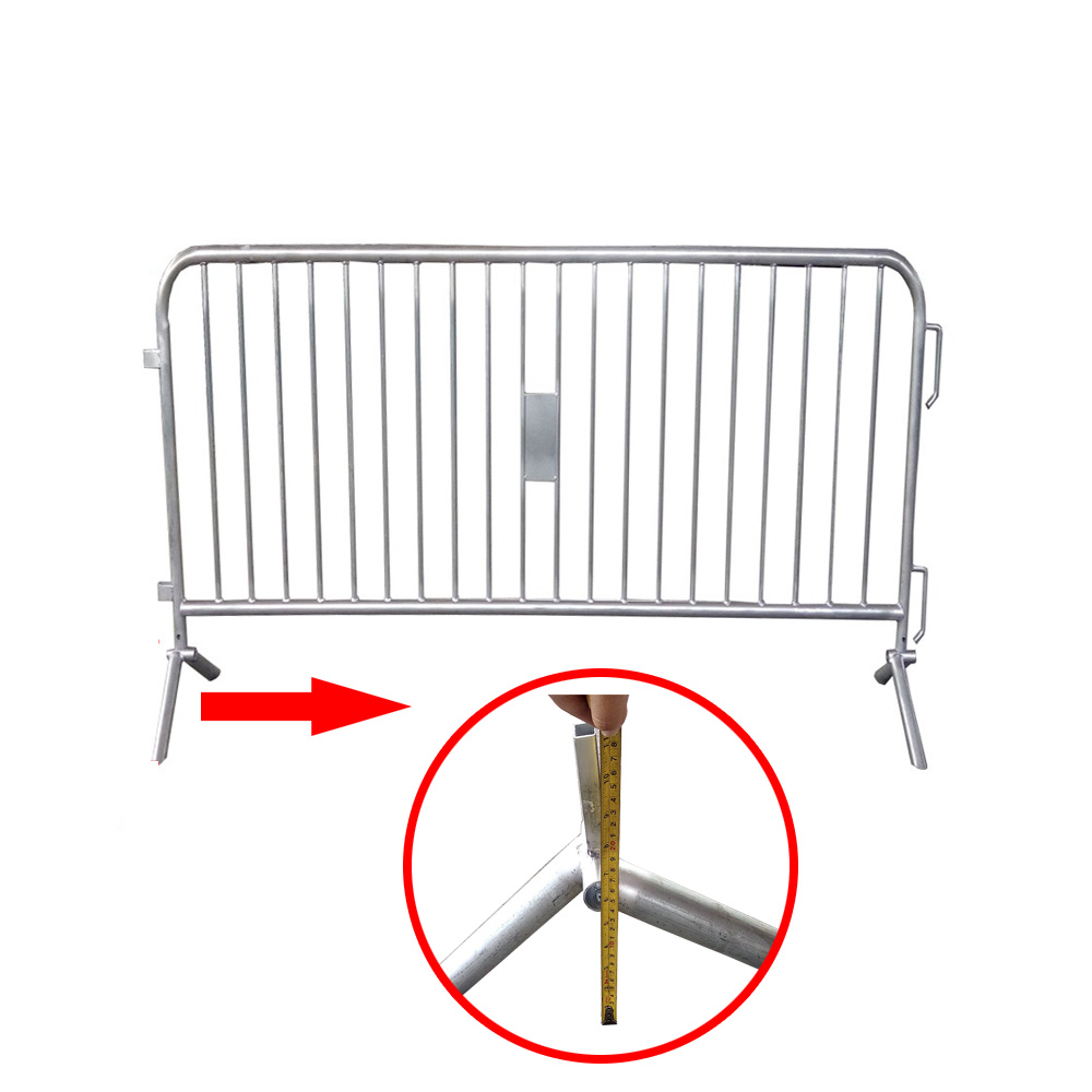 Cheap Hot Dipped Galvanized Police Barricades Welded australia temporary fence