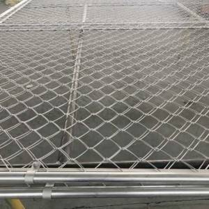 Durability Chain Link Gate Galvanized Cattle Farm Gate Chain Link Deer Gate