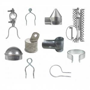 Hot dip galvanized Iron Craft chain link fence hardware accessories/ fittings/ parts