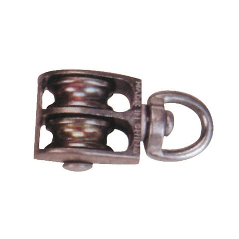 Tin-Plate Steel Hook With Latch - die casting double pulley – Thunder detail pictures