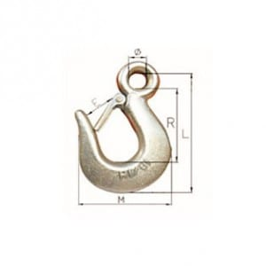 H-324A-324 U.S. TYPE SLIP HOOK WITH LATCH