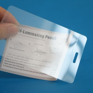 66×105mm self adhesive laminating sheets