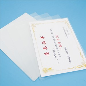 A4 216×303mm 75mic 80mic 100mic 125mic 150mic 250mic Separable laminating film