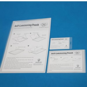 66 × 105mm sheets laminating adhesive poto