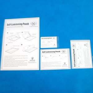 66 × 98mm PET 238mic Self Kleef Laminating Sheets