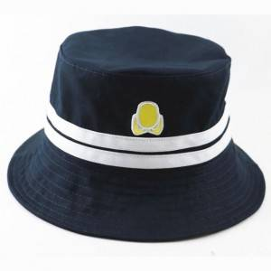 OEM manufacturer High Quality Bucket Hat - Custom embroidery Bucket hat wholesale high quality fishing hat with stripe in China – Worldlink