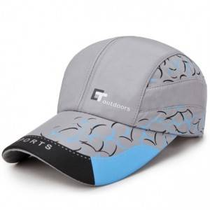 Custom silk printed sport cap hat 100% polyester piping running hat custom outdoor sports caps