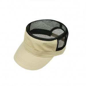 Fashion Customized Cotton Flat Top Dacron Net Cap