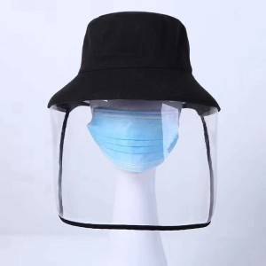 2020 new design fashion foldable protect face anti-virus mask transparent PVC bucket hat