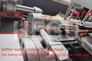 Corrugated pipe machine  HDPE/PVC double wall corrugated pipe machine