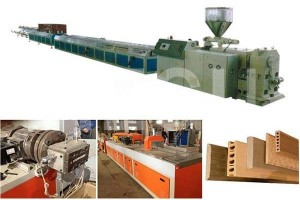 Wood Plastic WPC machine  PP PE WPC profile extrusion line