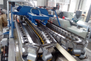 40 mm – 110 mm double wall corrugated pipe  making machine manufacturer price