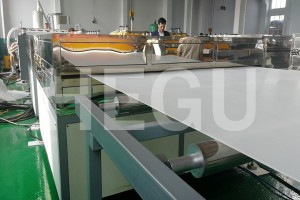 2500mm PE PC PP corrugated sheet machine
