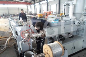 9-21mm pe orange pipe machine with steel wire