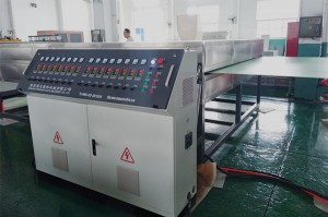 co-extrusion pp hollow grid plastic making machine (4)_副本