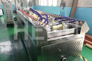 Wood Plastic WPC umatshini WPC decking co-extrusion line