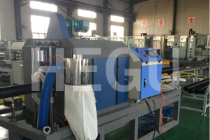 110 mm – 250 mm double wall corrugated pipe  making machine manufacturer price