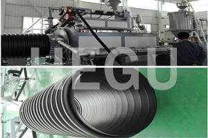 1500-2200mm large diameter PE spiral winding pipe machine