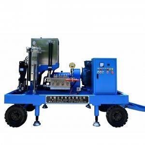 Electric Triplex Plunger Pumps cleaning machine