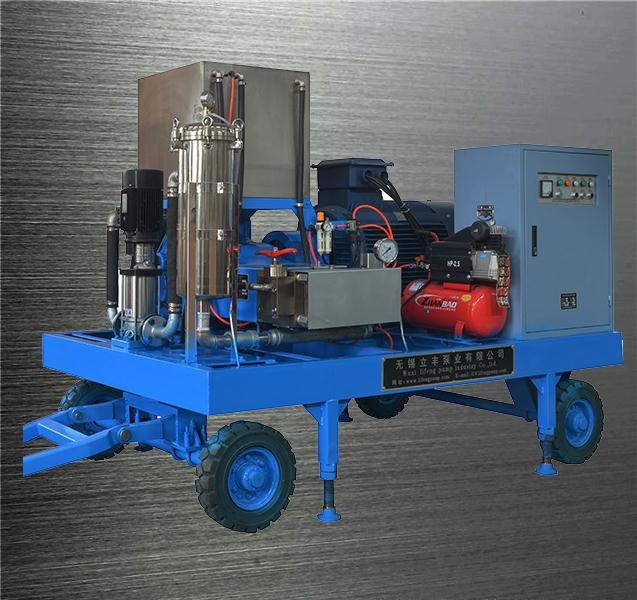 120bar 100l/min motor drive pipeline cleaning high pressure high pressure cleaner vertical injection moulding machine