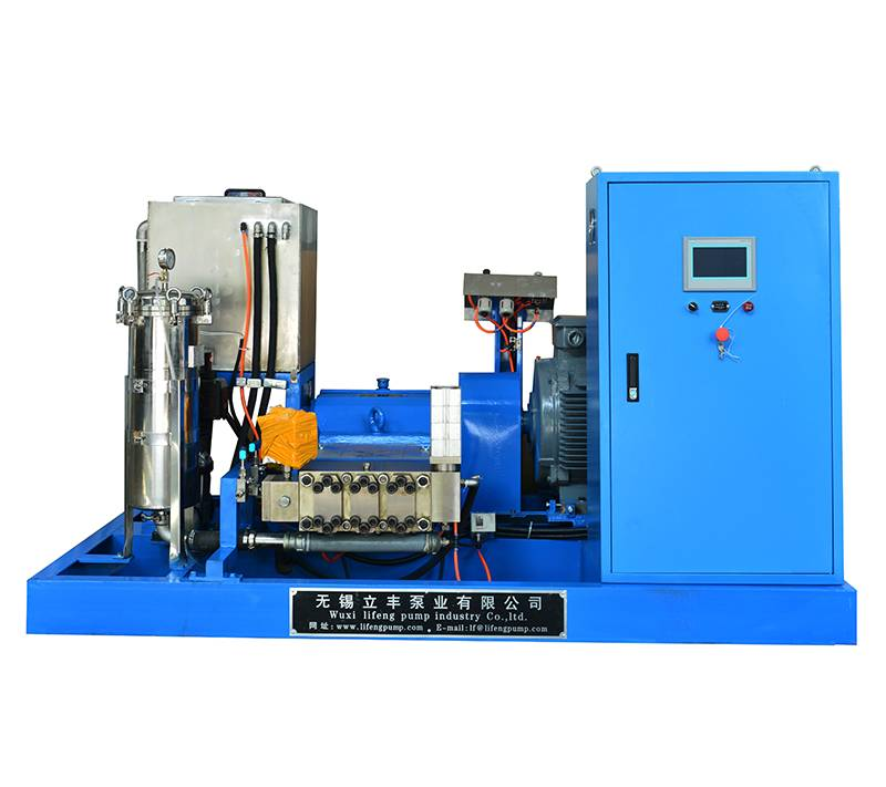 Hydro water blasting cleaner machine with high pressure water jet gun