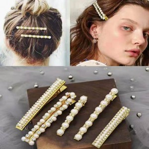 fashion pearl hair clips for women