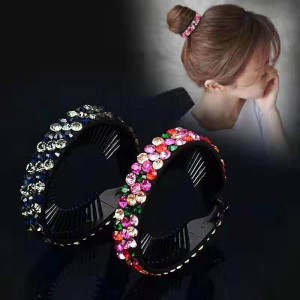 trendy quality hair claw and tie for lady