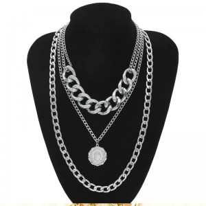 fashion long layer necklace