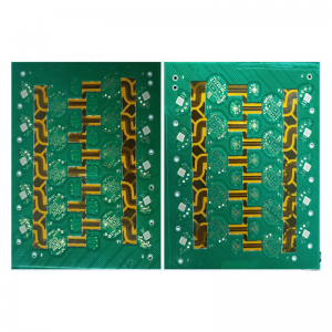 Six-layer first-order HDI Rigid-flex board