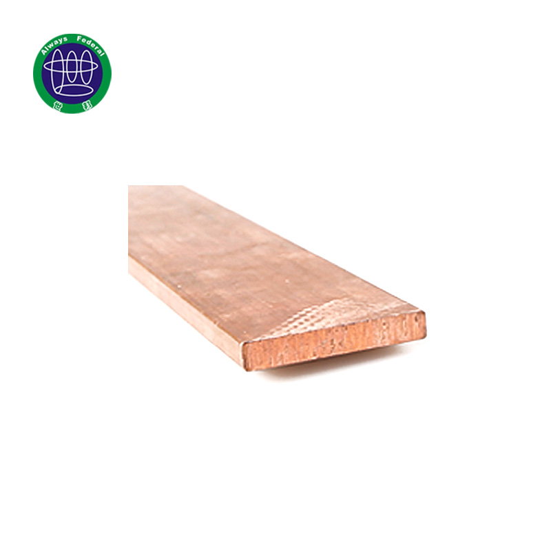 High Conductivity Copper Flat Bar Of Earthing