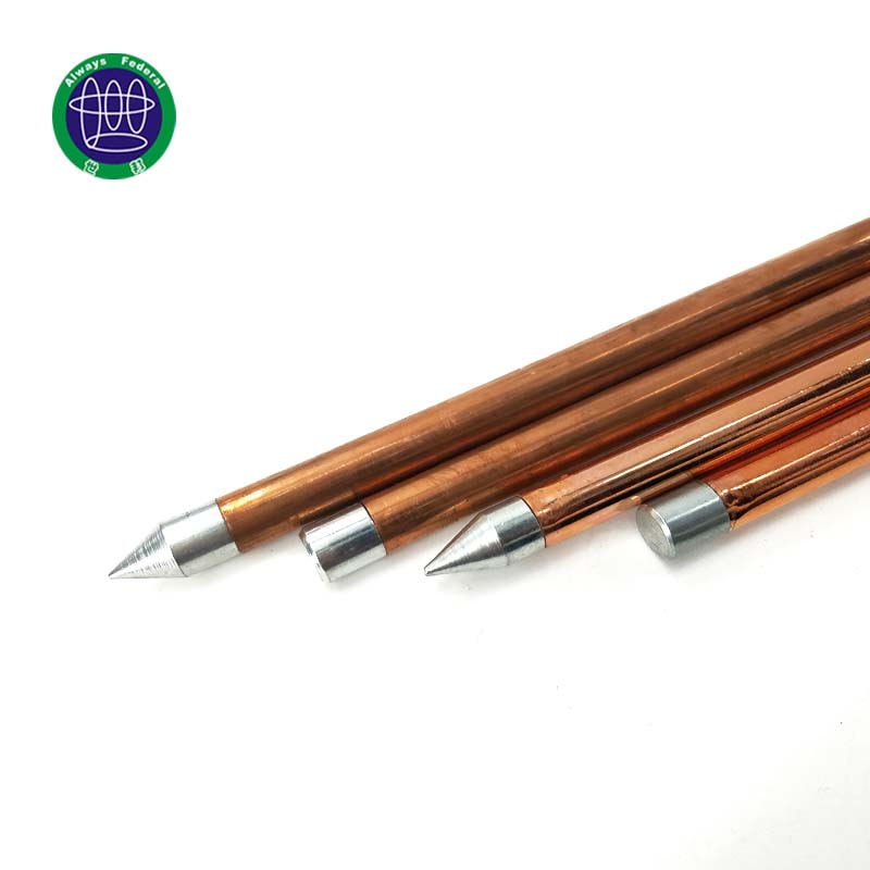 Double Threaded Ground Rod for Protecting Electrical Equipment